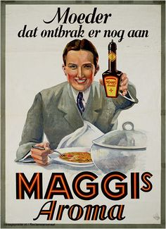 Reclame posters | 1925-1935 | Moeder dat ontbrak er nog aan. Maggi's Aroma | Vintageposter.nl | Vintage Posters
