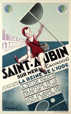Saint-Aubin sur mer, la reine de l'iode by Galland A / 1930
