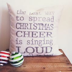 Christmas Cheer 16 x 16 Pillow Cover by ParrisChicBoutique on Etsy, $18.00