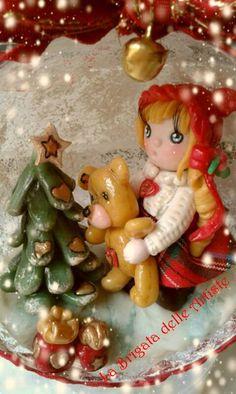 Susi natalizia bambolina natalizia realizzata in porcellana fredda, pasta di mais , porcelana fria