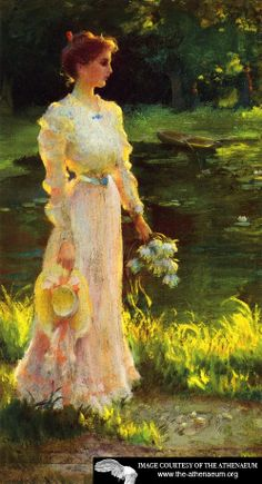 By the Lily Pond  Charles Courtney Curran