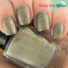 Femme Fatale Mirror of Dawn stamped with Zoya Dovima using MoYou London Sci-Fi Plate 04