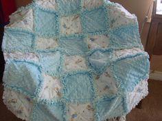 Peter Rabbit Beatrix Potter baby rag quilt by grandmasbabyboutique