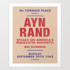Ayn Rand 1963 Chicago Talk Broadside #objectivism #AtlasShrugged #AynRand
