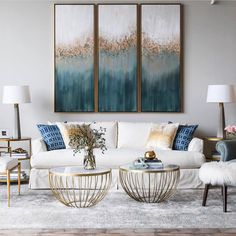 42 Amazing Coastal Living Room Decorating Ideas You Must Try . - 42 amazing coastal living room decorating ideas you must try out - Coastal Living Rooms, New Living Room, Living Room Interior, Living Room Furniture, Wooden Furniture, Living Room Decor Gold, Luxury Living Rooms, How To Decorate Living Room, Living Room Decor Elegant