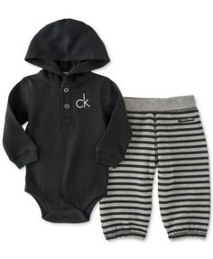 Calvin Klein Baby Boys' Thermal Bodysuit & Pants Set Source by tierrahc boy outfits Cool Baby, Baby Love, Baby Outfits, Kids Outfits, Newborn Outfits, Winter Outfits, Baby Set, Baby Boy Fashion, Kids Fashion