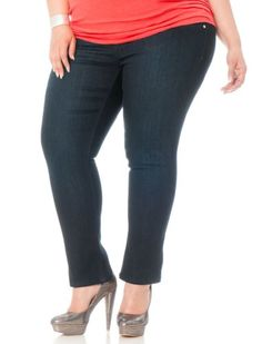 Fashion Bug Plus Size Brazilian Butt Lift Skinny Leg Jeans www ...