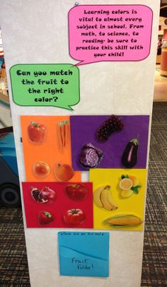 Reading With Red: Early Literacy Center – Fruit & Veggie Color Matching