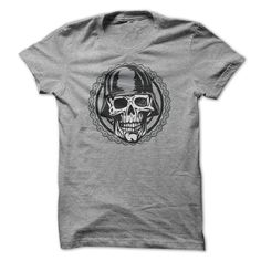 Deals for  - Biker Helmet Skull Circle Motorcycle Chain T-shirt cheap online order now Check more at http://wow-tshirts.com/name-t-shirts/affordable-biker-helmet-skull-circle-motorcycle-chain-t-shirt-cheap-online.html