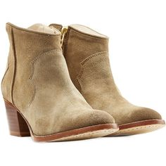 Zadig & Voltaire Molly Suede Boots (355 CAD) ❤ liked on Polyvore featuring shoes, boots, brown, zipper cowboy boots, brown shoes, suede shoes, western shoes and zip boots