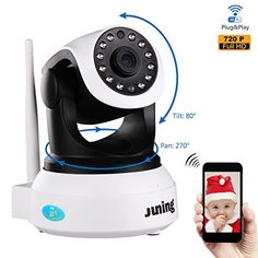 Baby Monitor Home Wifi Wireless Security Camera System 720P HD Pan Tilt (Day/Night Vision,2 Way Audio,SD Card Slot, Alarm)-JUNING IP Camera - $69.99