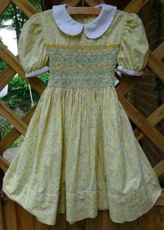 Smocked child's dress in Laura Ashley lawn (hand smocked by Mary Addison) 20.7.14