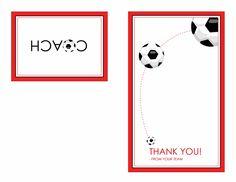 Thank you card for soccer coach (quarter-fold) - Templates - Office.com