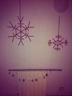 #diy #christmas #snowflakes