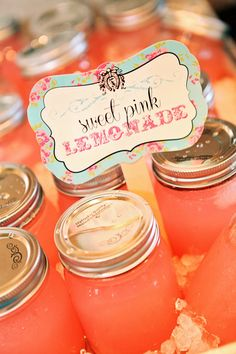 love the idea of making the cards and put next to your food items...also like the mason jars!