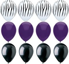 Set of 5 Zebra and Purple LARGE Poms OR Pick Your Color To Go With