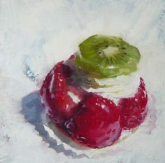 'Cake' Oil on Canvas 75 x 75 cm by James Hart Dyke