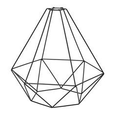 Renew your home - IKEA - BRUNSTA, Pendant lamp shade, black, Fits cord sets from the HEMMA and SEKOND series. Rustic Lamp Shades, Modern Lamp Shades, Ikea Light Shades, Painting Lamp Shades, Painting Lamps, Geometric Lamp, Wooden Lampshade, Lampshades, Handmade Home Decor