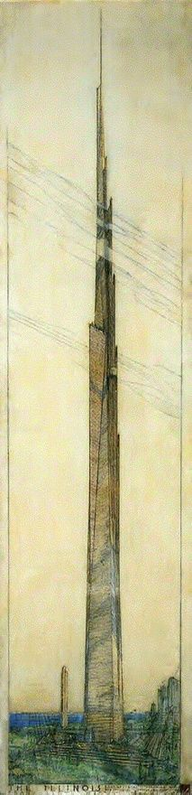 Frank Lloyd Wright saw and drew the Future more than 100 years ago!!! A Visionary beyond compare. #franklloydwright