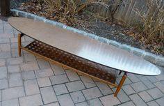 MCM lane surf board coffee table