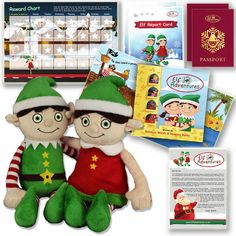 Elf on the Shelf Boy Girl Christmas Gift Set Elf Adventures Early Years Activity #ElfAdventures