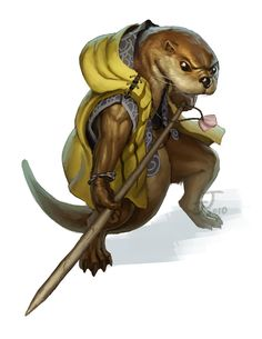 Otter with Spear - Redwall