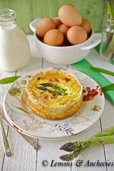 Bacon, Asparagus & Cheddar Quiche - To make low carb leave off the crust or make a low carb version of pie crust.
