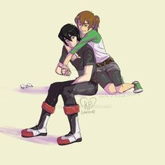 Cuddle- Keith and Pidge from Voltron Legendary Defender