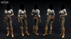 C's outfits, Marcin Blaszczak : Some main NPC's outfits I did for The Witcher 3 - Wild Hunt Witcher Art, Witcher 3 Wild Hunt, The Witcher 3, Witcher 3 Characters, Fantasy Characters, Female Characters, Zbrush, Concept Clothing, Hunter Outfit