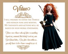 Young Women's Values Disney Princesses Virtue