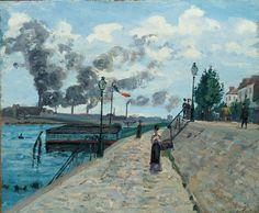 Jean-Baptiste Armand Guillaumin (French, 1841–1927), The Seine at Charenton (formerly Daybreak), 1874. Oil on canvas, 21-1/4 x 25-3/8 in. (53.3 x 63.5 cm). Norton Simon Art Foundation  © Norton Simon Art Foundation