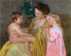 Mother and Two Children - Mary Cassatt, 1906