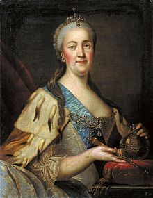 The Empress Catherine II.  Catherine's right to the Russian throne has always been questionable, but once she was there she proved to be one of Russia's most talented and enlightened sovereigns.  Catherine is one of the most interesting figures of history.