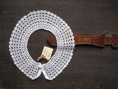 Vintage, Lace Crocheted Collar - $22 - Alicia's Infinity via Etsy