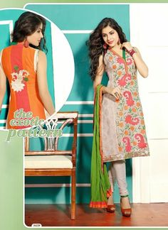 Ravishing Off White & Pink Chiffon Based #Salwar #Suit With Kasab Work #churidarsuits #ethnicwear #womenapparel #womenfashion