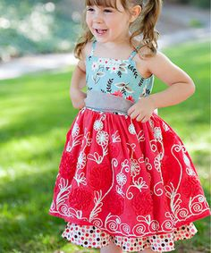This Red Paloma A-Line Dress - Infant & Toddler by Moxie & Mabel is perfect! #zulilyfinds