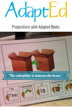 Practice prepositions this summer with adapted books! Autism