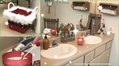 DIYs Para Transformar Tu Baño En Navidad  Parte # 4 | Santa Basket DIY Dollar Tree Christmas, Christmas Deco, Youtube, Ideas, Xmas, Christmas Bathroom Decor, Christmas Projects, Christmas Decor, Christmas Ornaments