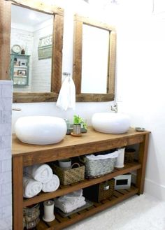 the space between rustic master bathroom &; the space between toni_and_levi jennifermerkoff Bathroom bathroom decor ideas luxury furniture living room ideas home furniture […] farmhouse guest room Rustic Master Bathroom, Rustic Bathroom Vanities, Modern Farmhouse Bathroom, Rustic Bathrooms, Small Bathroom, Farmhouse Design, Bathroom Ideas, Bathroom Cabinets, Wood Bathroom