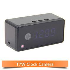 Table Clock Alarm Setting 720P HD H.264 IR Night Vision Mini Camera Wifi Smartphone Camera Wifi IP Clock Camera Mini DV DVR Cam