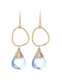 Moonrise Jewelry - Giza Earrings- Aquamarine, $56.00