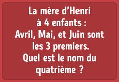11énigmes qui vont mettre talogique àl'épreuve ! Psycho Test, French Expressions, School Games, This Or That Questions, Charades, Police, Dragon, Halloween, Decoration