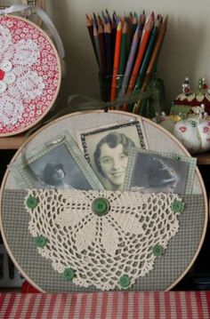 This could be a fun, sale-able hoop Embroidery Hoop Art @ cozylittlehouse Embroidery Hoop Decor, Embroidery Transfers, Vintage Embroidery, Embroidery Stitches, Embroidery Patterns, Hand Embroidery, Vintage Lace, Sewing Crafts, Sewing Projects
