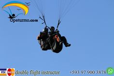 Paragliding Baños Ecuador Enjoy a paragliding with friends and family. In this activity you just need the desire to want to do the activity.