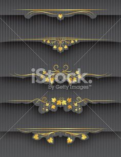 Decorative Wine Grapes Tabs and Page Headers Royalty Free Stock Vector Art Illustration