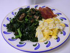 eggs, bacon, kale
