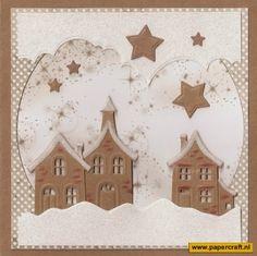 PaperCraft's News: Kerst met Lea'bilities Huisjes