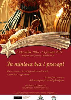 In #miniera tra i #presepi, al #museodelcarbone #minieraserbariu dal 8 Dicembre alle ore 16!