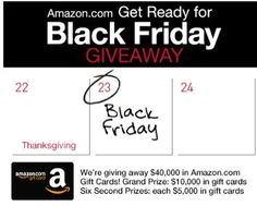 Today is the last day to enter to win lots of Amazon gift cards! You could be one of six lucky winners to win $5,000, or even the one lucky person to win $10,000! Just get your entry in today, and cross your fingers you might be getting your holiday shopping done courtesy of Amazon! [...]