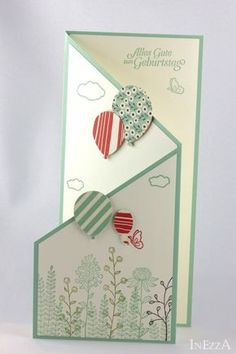 Cascade card simple – The Best Ideas Hand Made Greeting Cards, Making Greeting Cards, Greeting Cards Handmade, Fun Fold Cards, Folded Cards, Fun Wedding Invitations, Wedding Cards, Diy Crafts To Sell, Handmade Crafts